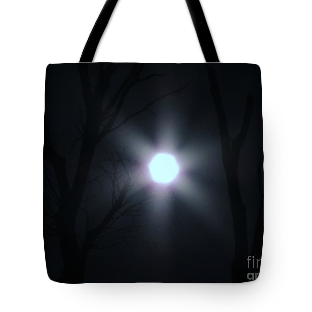New Tote Bag featuring the photograph Hexed Moon by Rick Maxwell