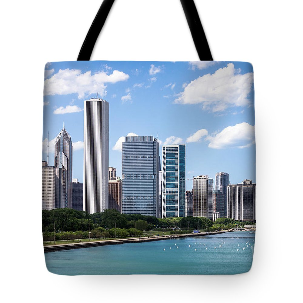 2012 Tote Bag featuring the photograph Hi-res Picture Of Chicago Skyline And Lake Michigan by Paul Velgos
