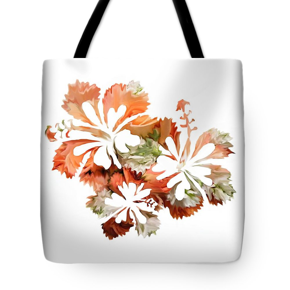 Hibiscus flowers tote bag for sale by art spectrum flower tote bag featuring the digital art hibiscus flowers by art spectrum izmirmasajfo