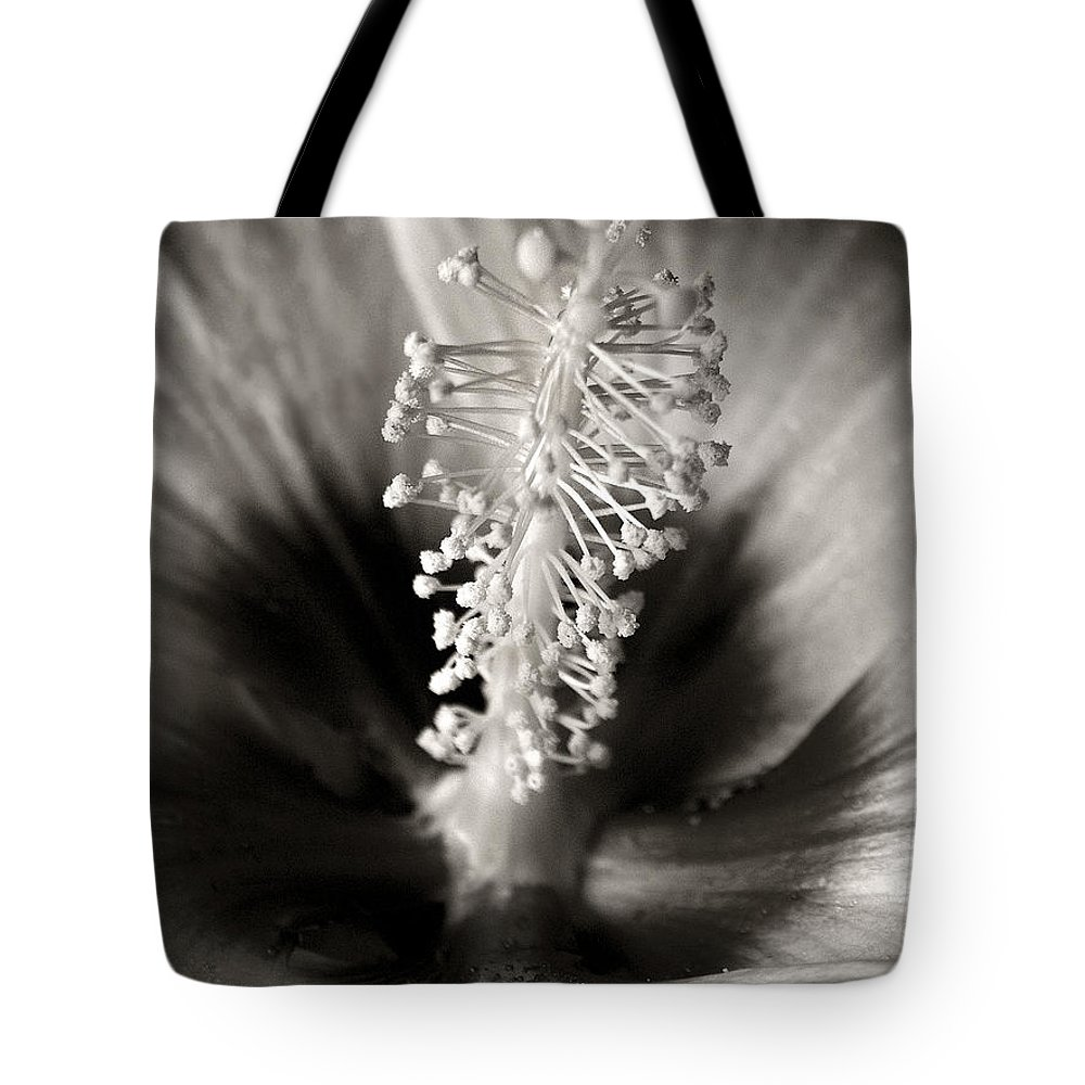 Hibiscus Tote Bag featuring the photograph Hibiscus Secrets by Marilyn Hunt