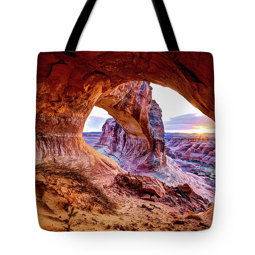 Hidden Tote Bag featuring the photograph Hidden Alcove by Chad Dutson