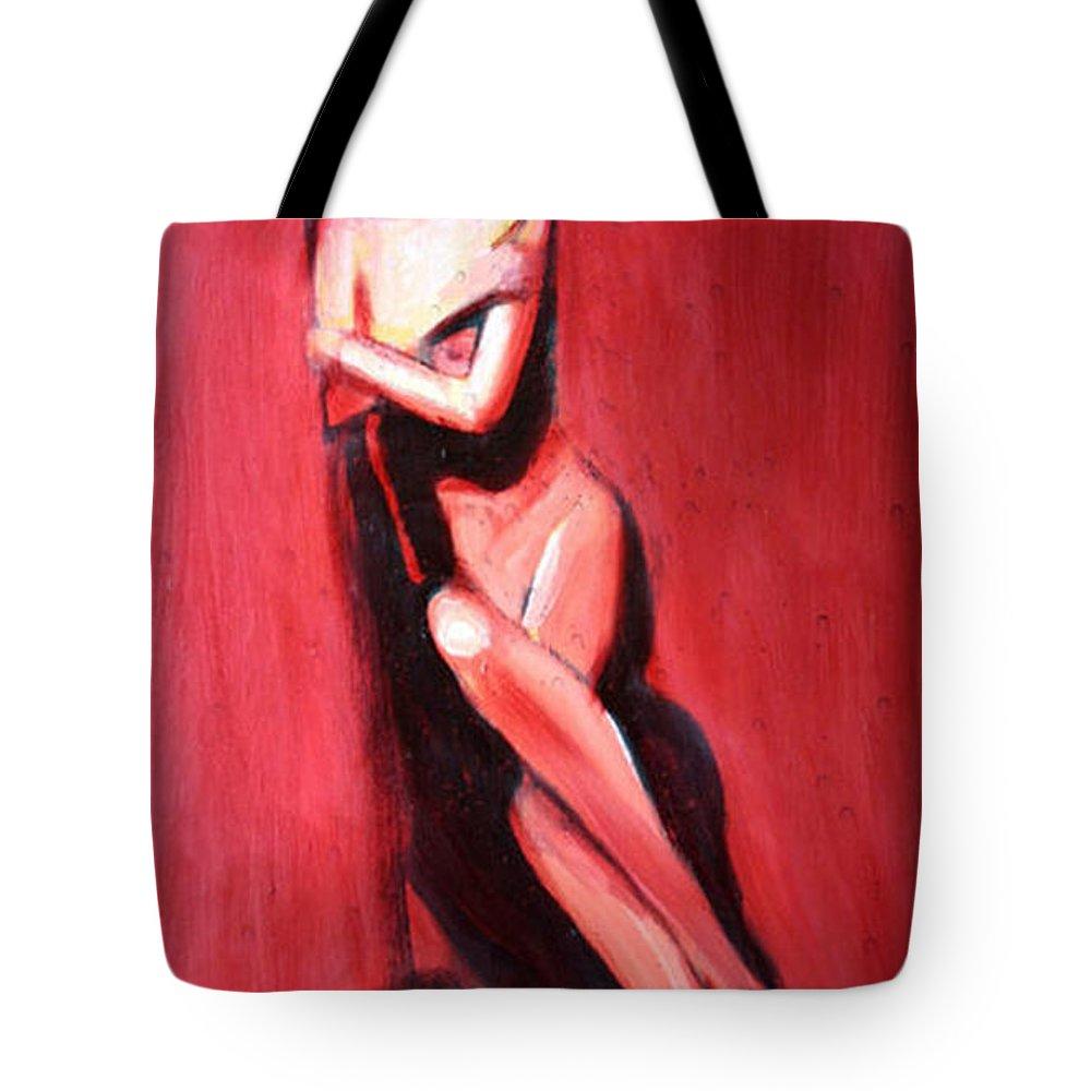 Art Tote Bag featuring the painting Hidden Heart by Jarmo Korhonen aka Jarko