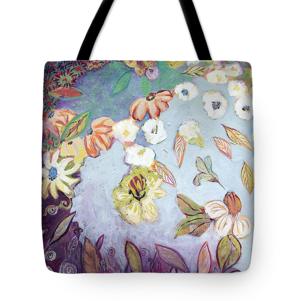 Water Tote Bag featuring the painting Hidden Lagoon Part I by Jennifer Lommers