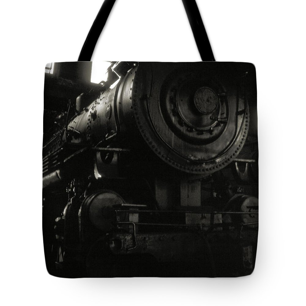 Railroads Tote Bag featuring the photograph Hidden Legend by Richard Rizzo