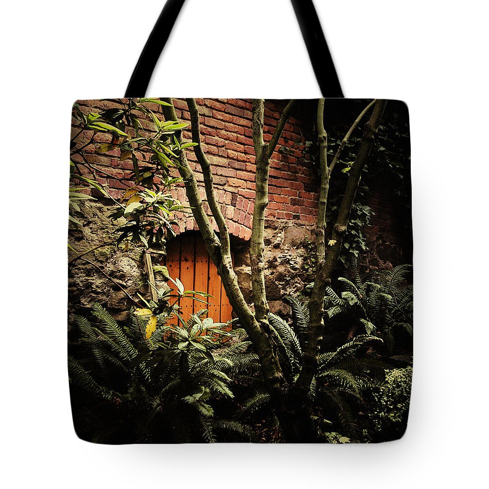 Brick Tote Bag featuring the photograph Hidden Passage by Tim Nyberg