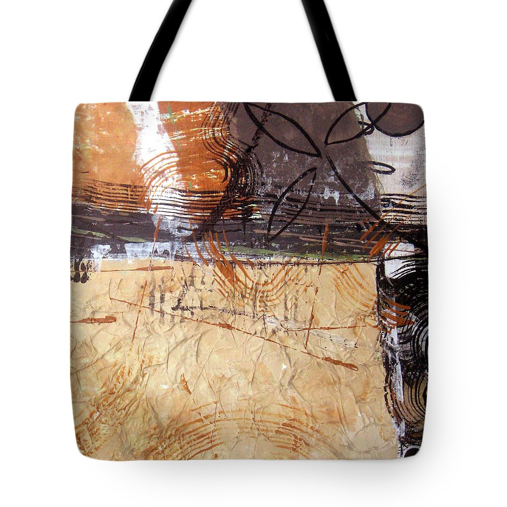 Abstract Tote Bag featuring the painting Hidden Treasures II by Ruth Palmer