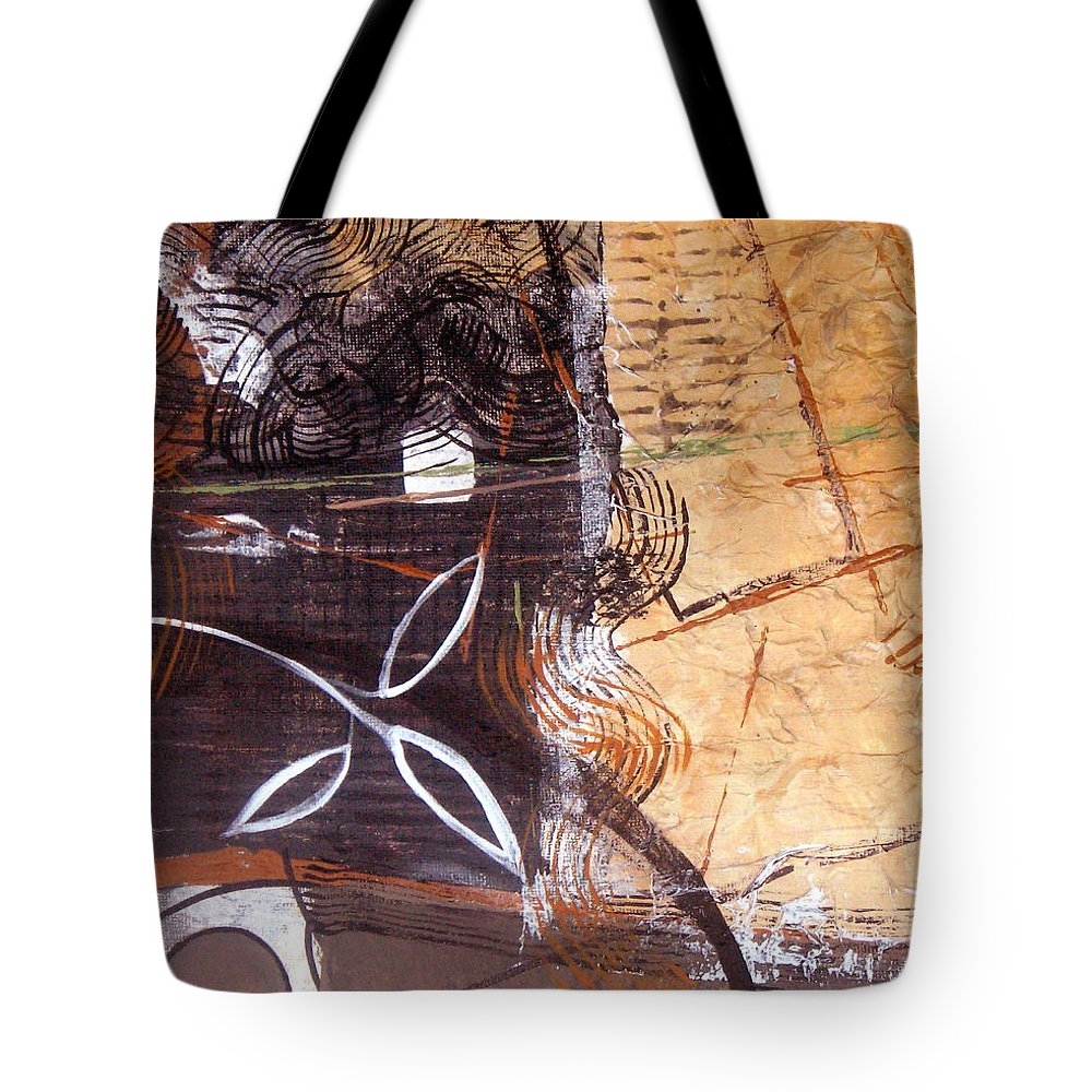 Abstract Tote Bag featuring the painting Hidden Treasures by Ruth Palmer