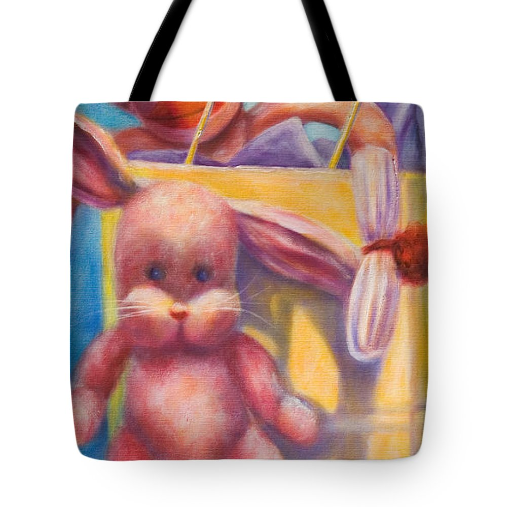 Children Tote Bag featuring the painting Hide And Seek by Shannon Grissom