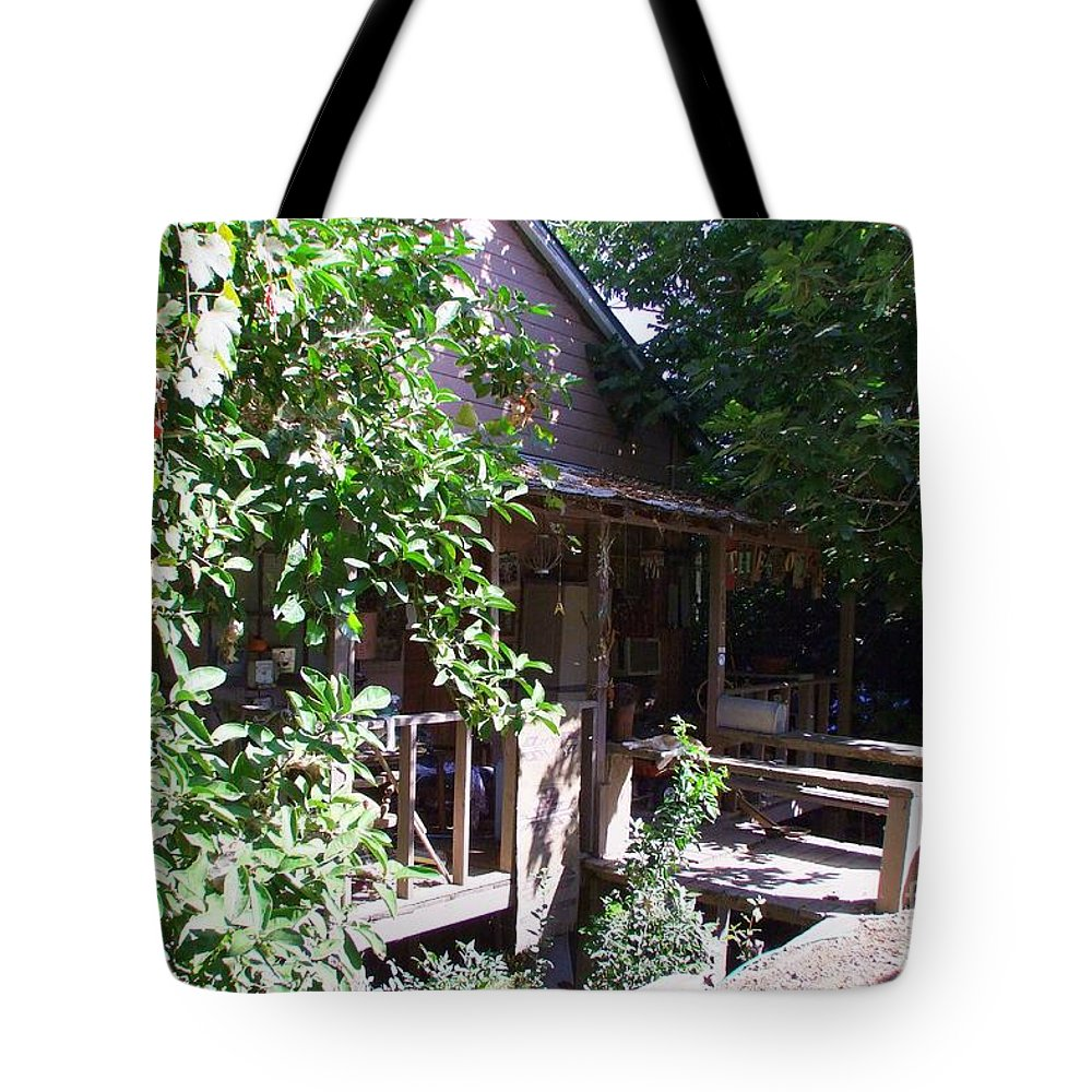 Mary Deal Tote Bag featuring the photograph Hideaway In Locke by Mary Deal