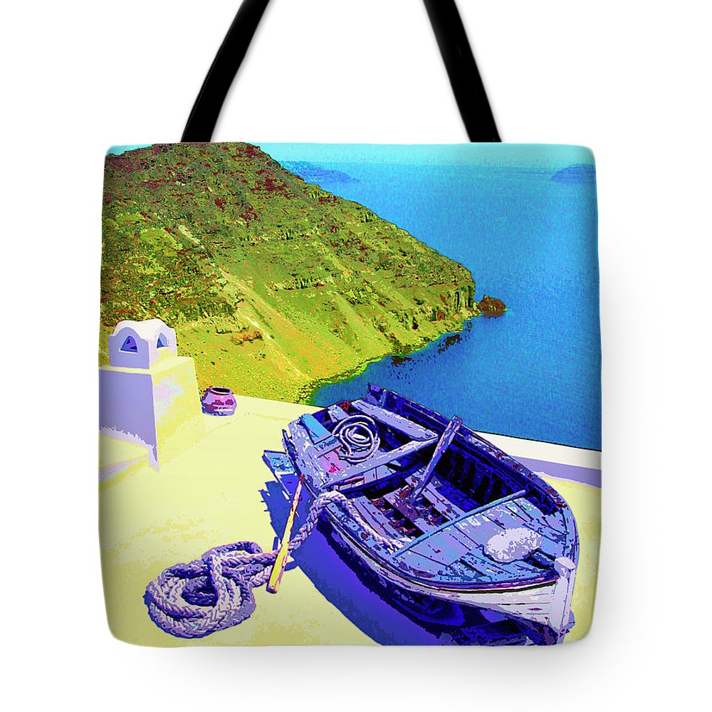 High And Dry Tote Bag featuring the mixed media High And Dry by Dominic Piperata