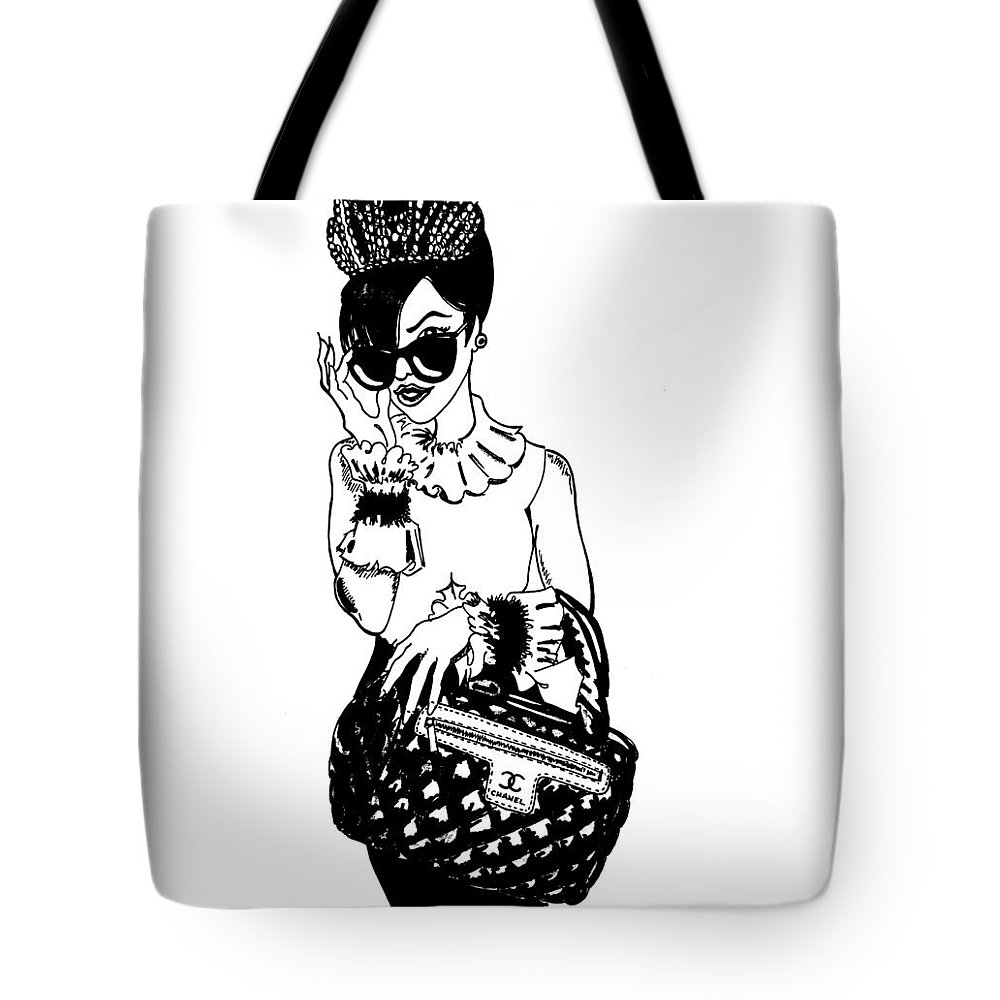 Woman Tote Bag featuring the painting High Fashion 2 by SKIP Smith