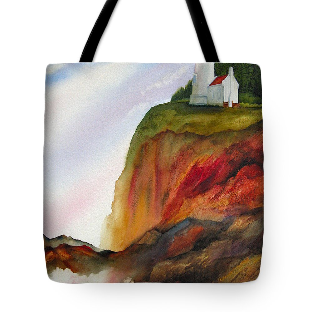 Coastal Tote Bag featuring the painting High Ground by Karen Stark