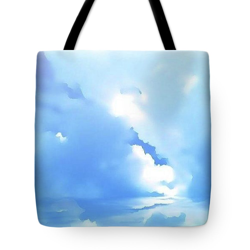 Clouds Tote Bag featuring the digital art High Life by Amber Stubbs