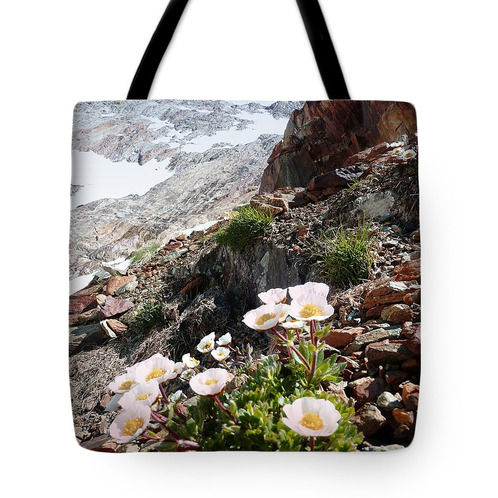 Tote Bag featuring the photograph High Mountain Flowers by Elizabetha Fox