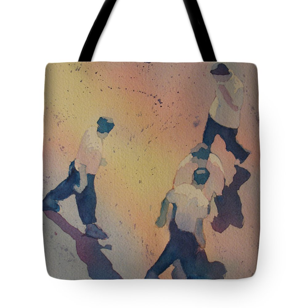 Men Tote Bag featuring the painting High Noon At The Gravel Spit I by Jenny Armitage