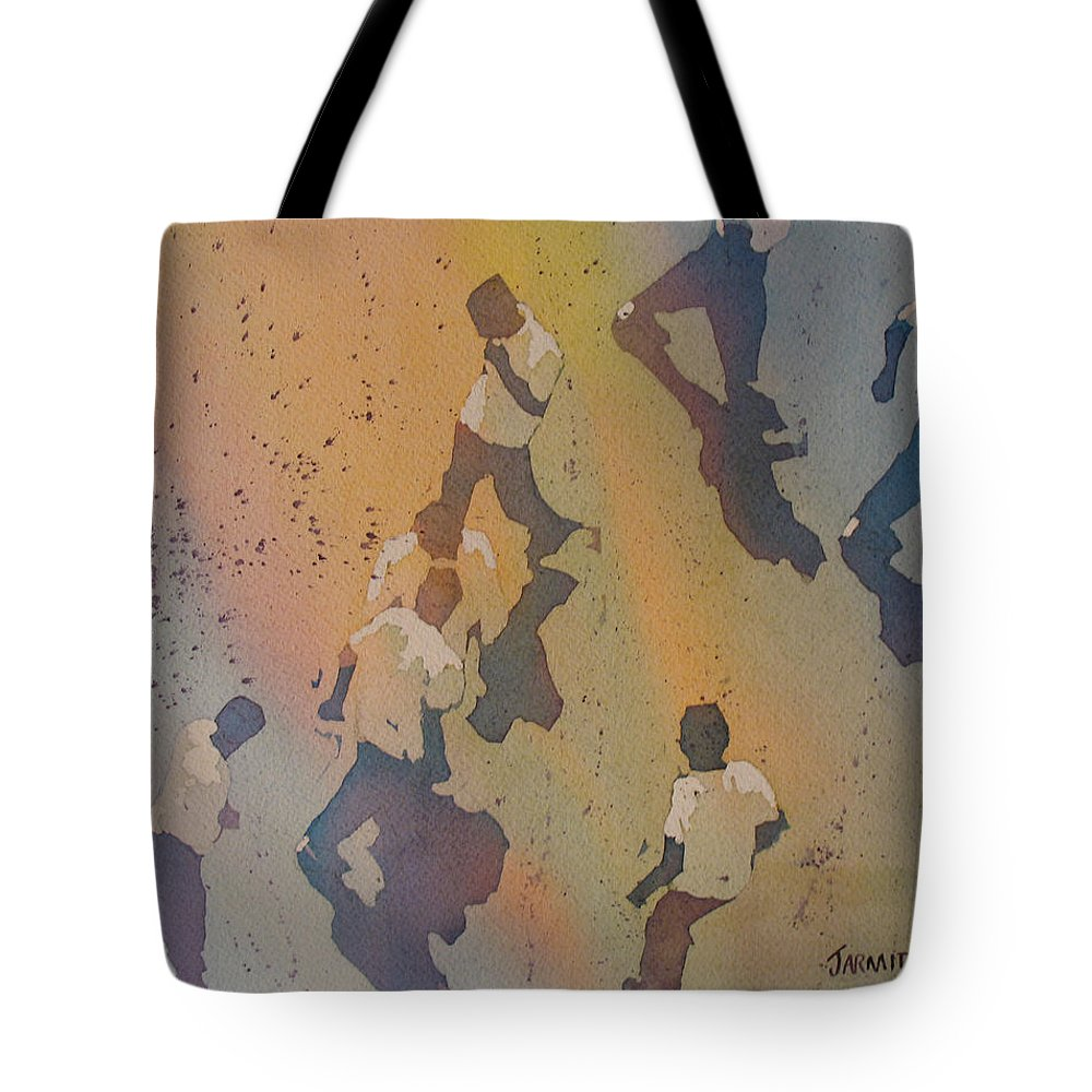 Men Tote Bag featuring the painting High Noon At The Gravel Spit II by Jenny Armitage