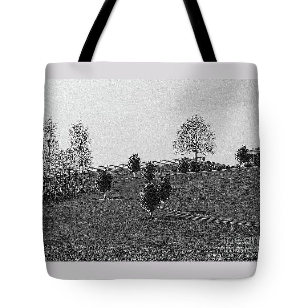 Country Tote Bag featuring the photograph High On A Hill by Kathleen Struckle