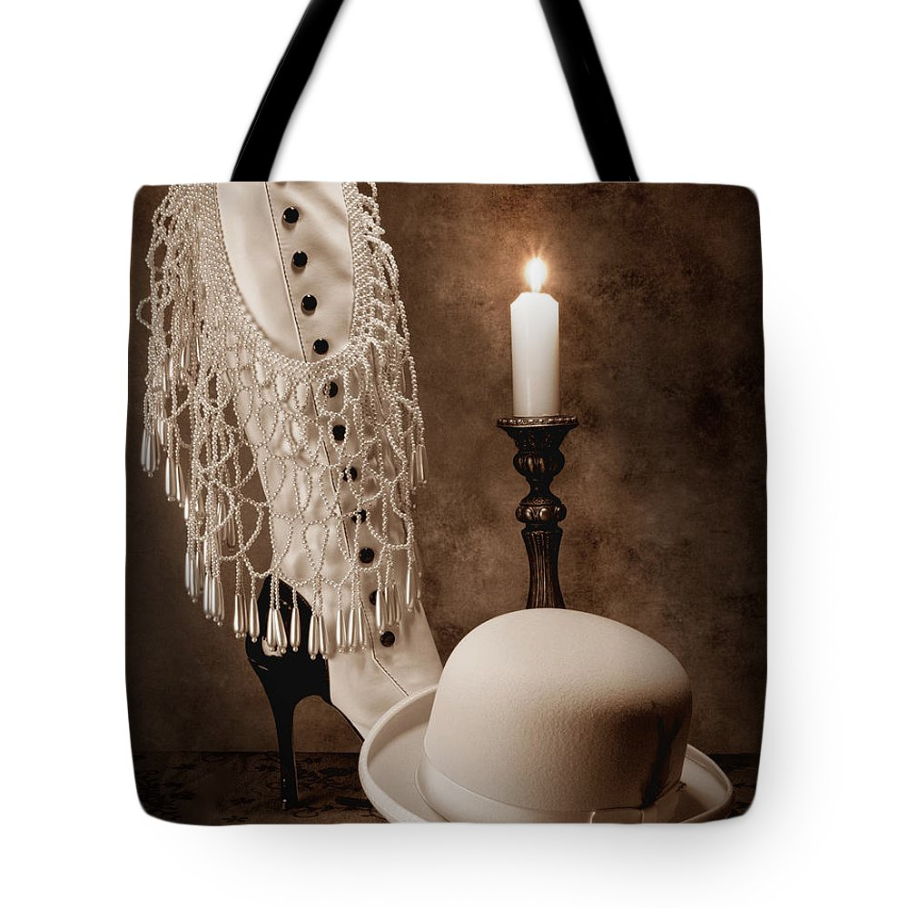 Sepia Tote Bag featuring the photograph High Society by Tom Mc Nemar