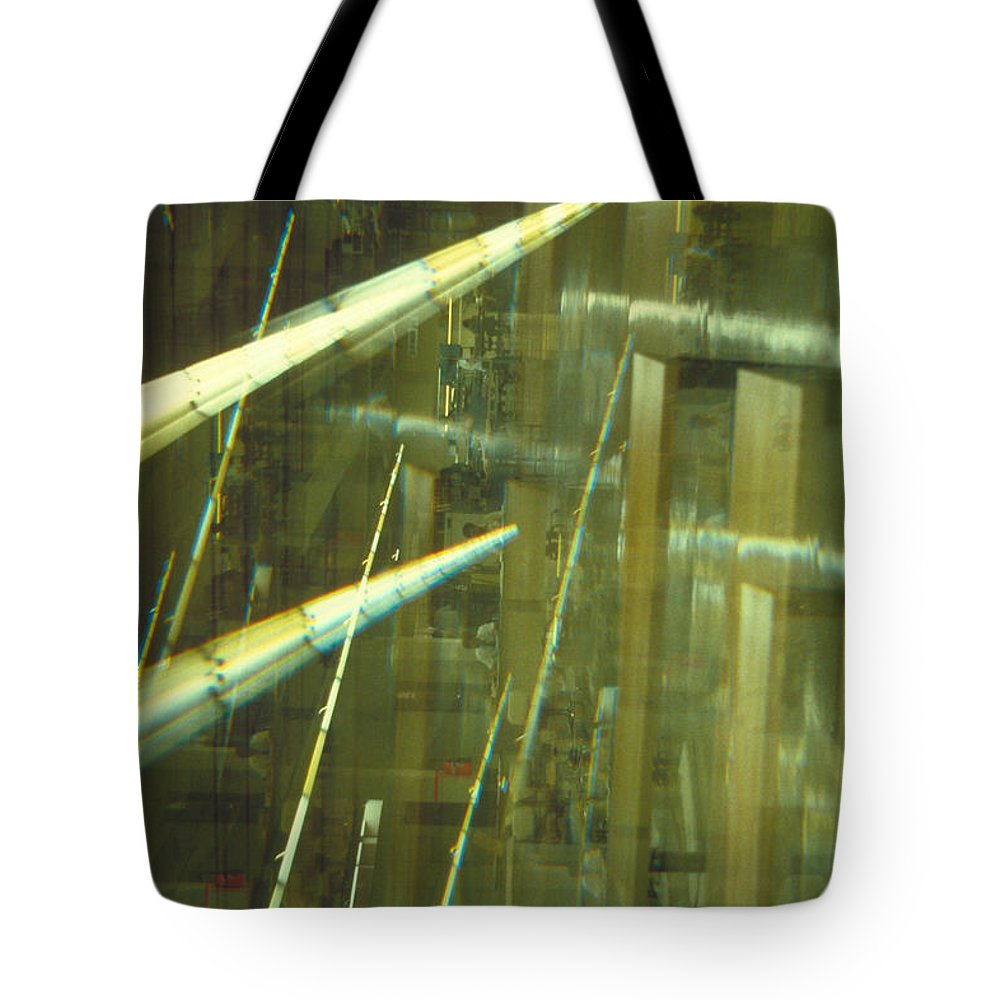 Industrial Tote Bag featuring the photograph High Tech Blur by Jerry McElroy