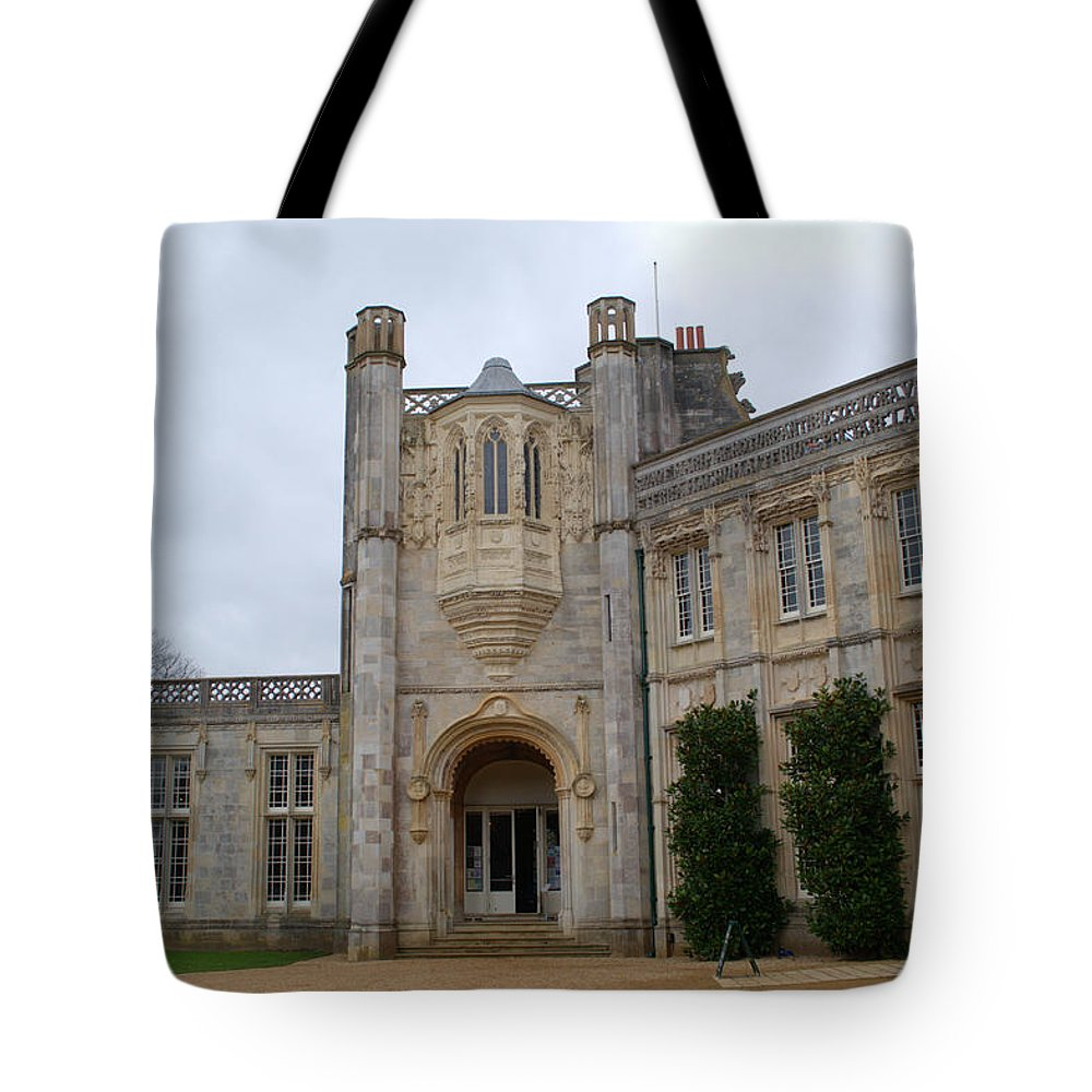 Highcliffe Castle Tote Bag featuring the photograph Highcliffe Castle Dorset by Chris Day
