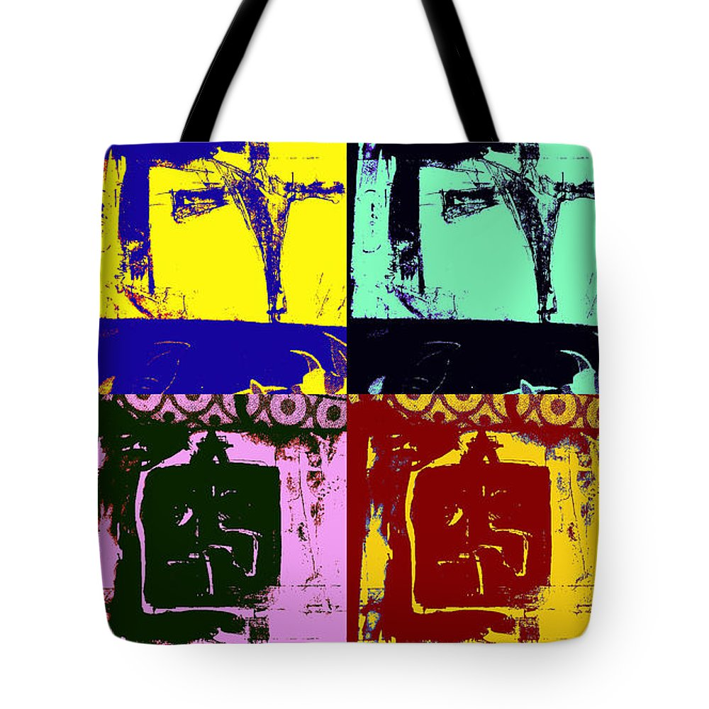 Deity Tote Bag featuring the painting Higher-power by Ayyappa Das