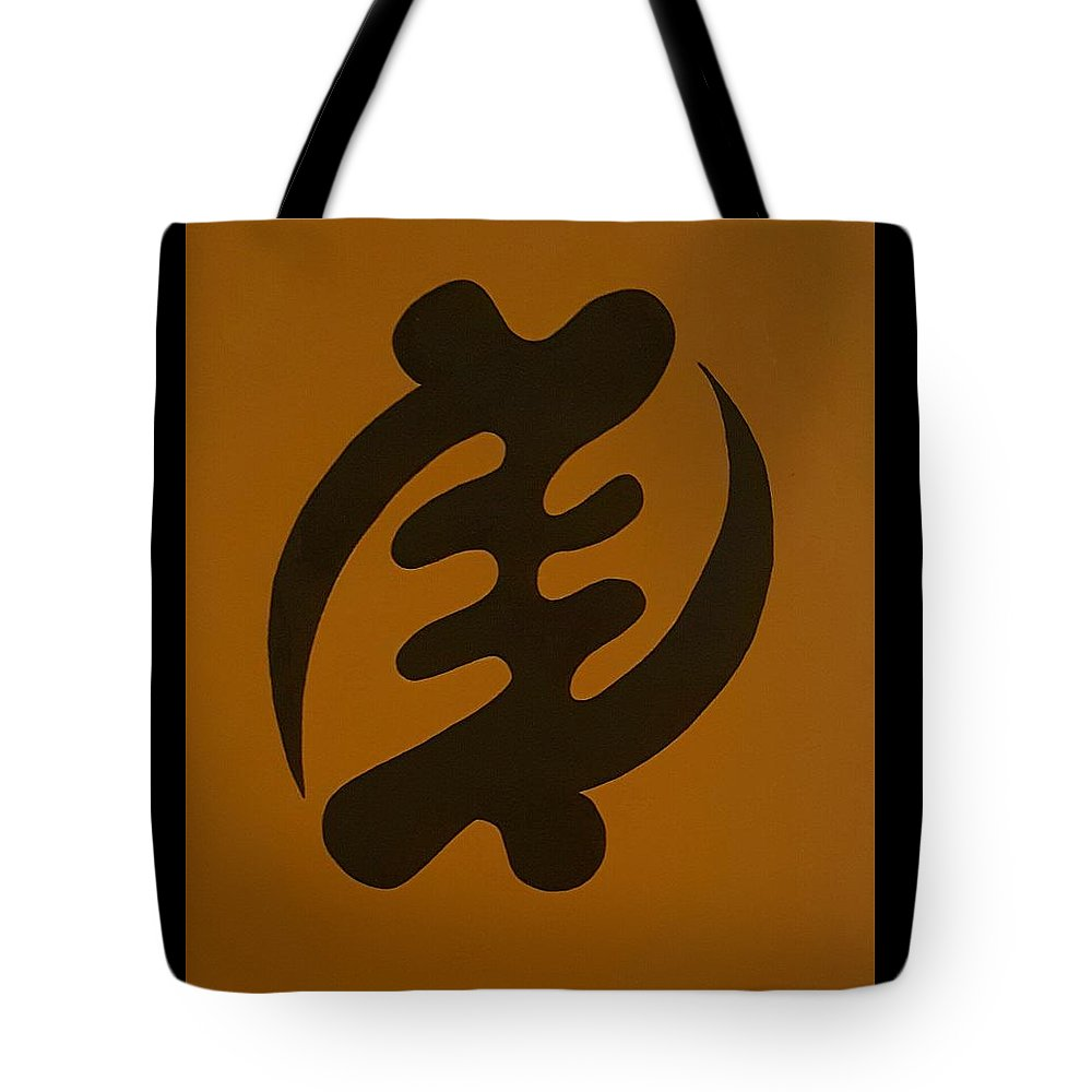 West African Symbols Tote Bag featuring the painting Higher Power by Azariel Shabazz
