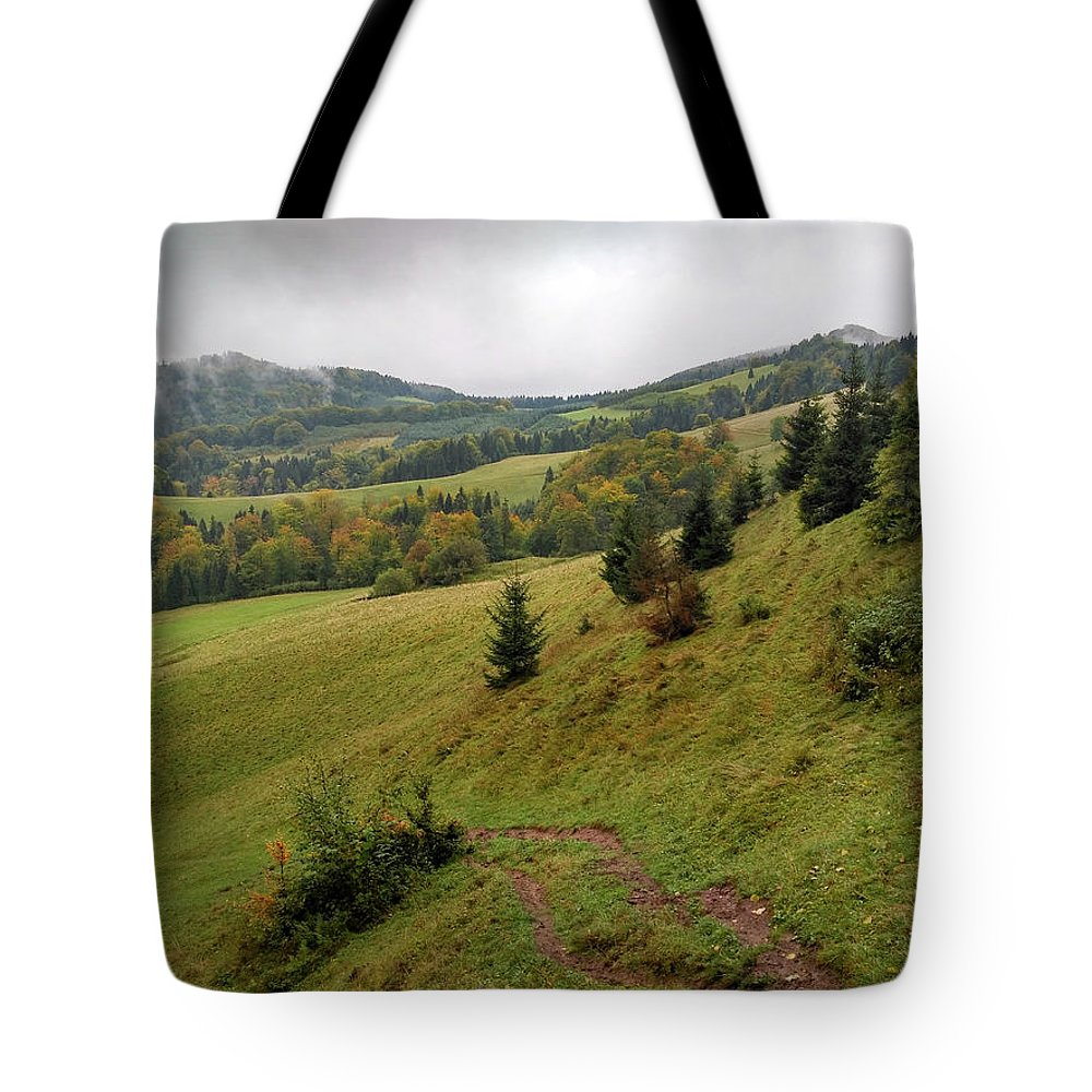 Pieniny Tote Bag featuring the photograph Highlands landscape in Pieniny by Arletta Cwalina