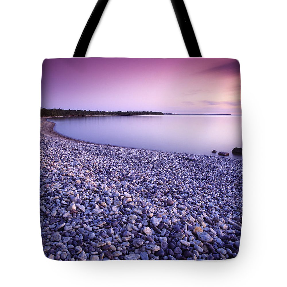 Colour Image Tote Bag featuring the photograph Hillside Beach, Lake Winnipeg, Manitoba by Dave Reede