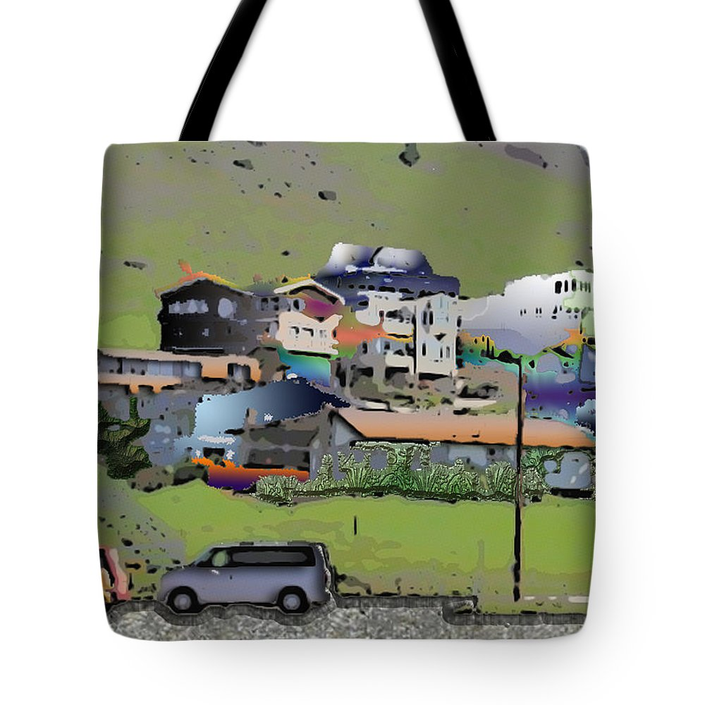 Homes Tote Bag featuring the photograph Hillside City by Arline Wagner