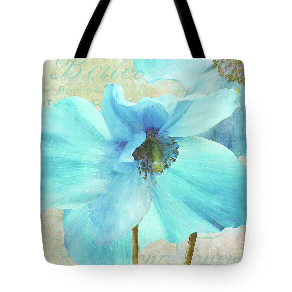 Himalayan Blue Poppy Tote Bag featuring the painting Himalayan Blue Poppy by Mindy Sommers