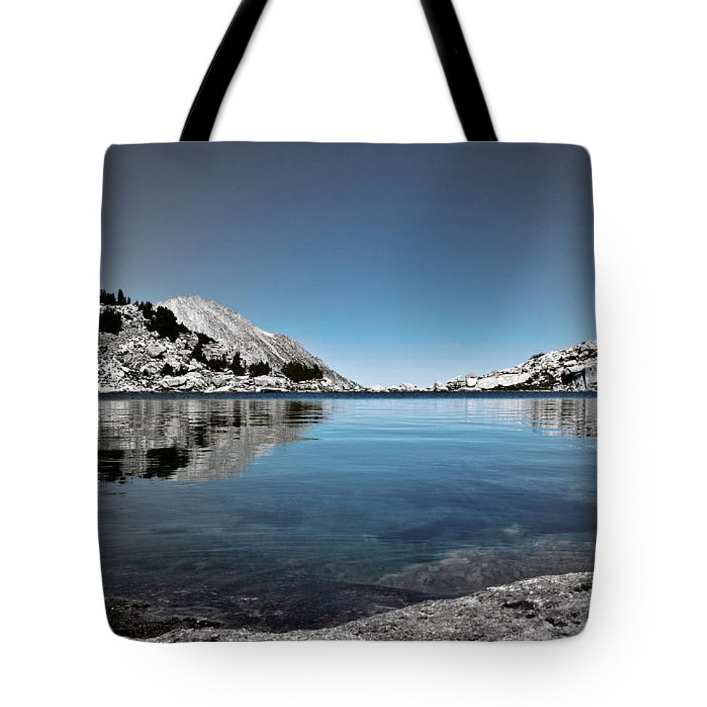 Treasure Lake Tote Bag featuring the photograph Hint Of Treasure by Chris Brannen