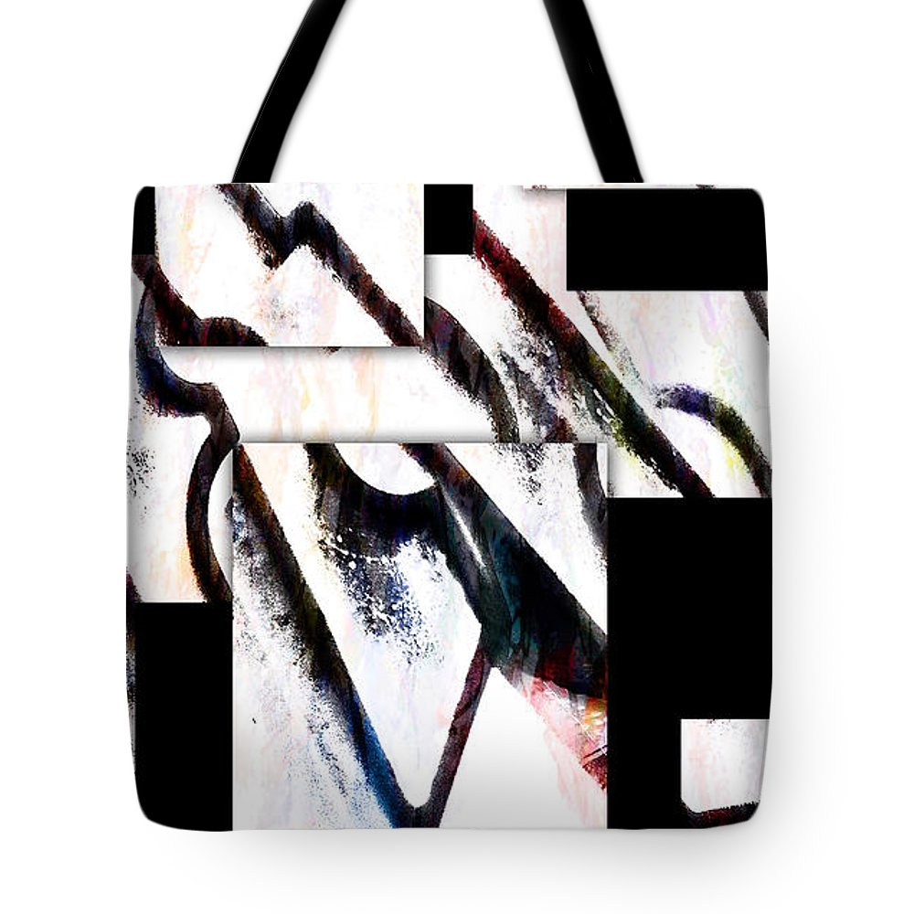 Modern Tote Bag featuring the digital art Hip To Be Square by Ken Walker