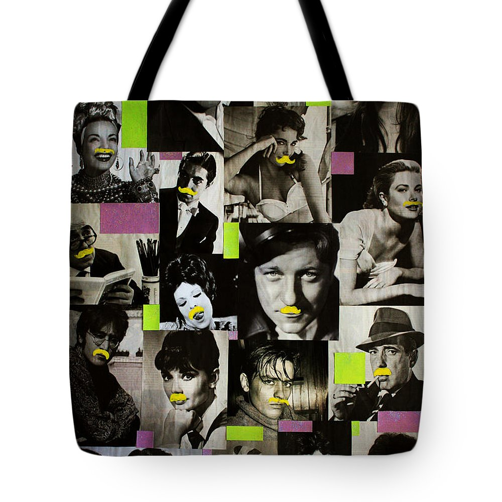 Cinema Tote Bag featuring the painting Hipster by Federico Biancotti