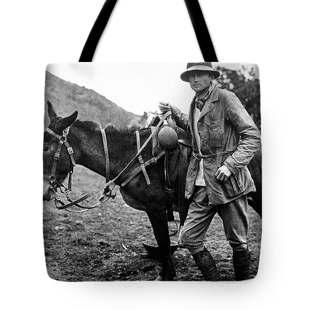 1911 Tote Bag featuring the photograph Hiram Bingham (1875-1956) by Granger
