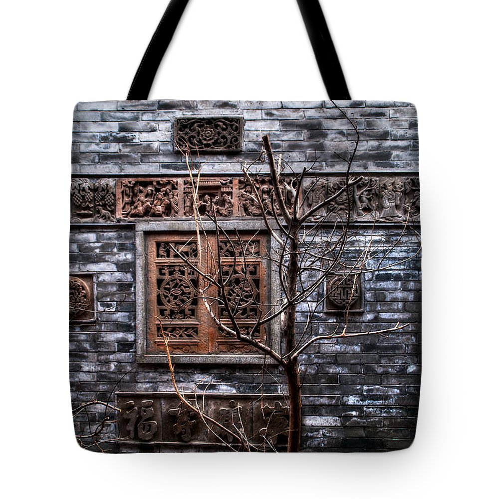 Architecture Tote Bag featuring the photograph Historic Hutong by Venetta Archer
