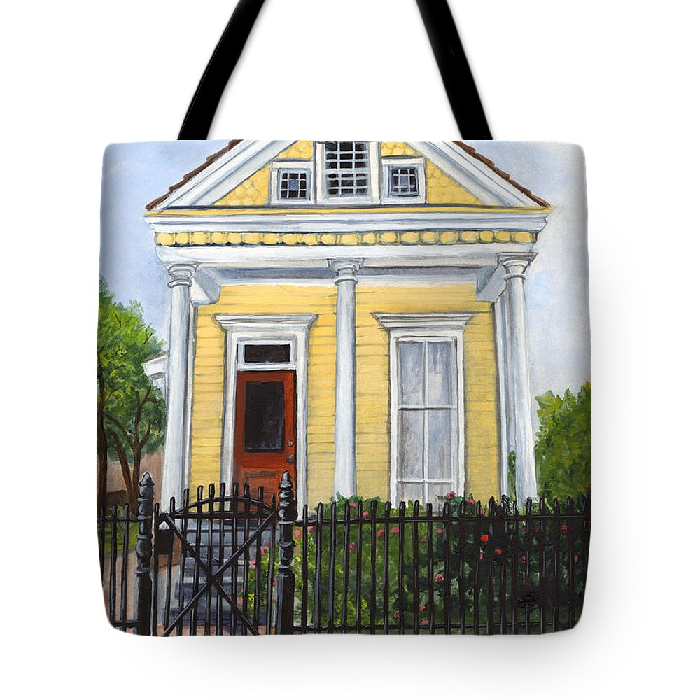 House Paintings Tote Bag featuring the painting Historic Louisiana Cottage by Elaine Hodges