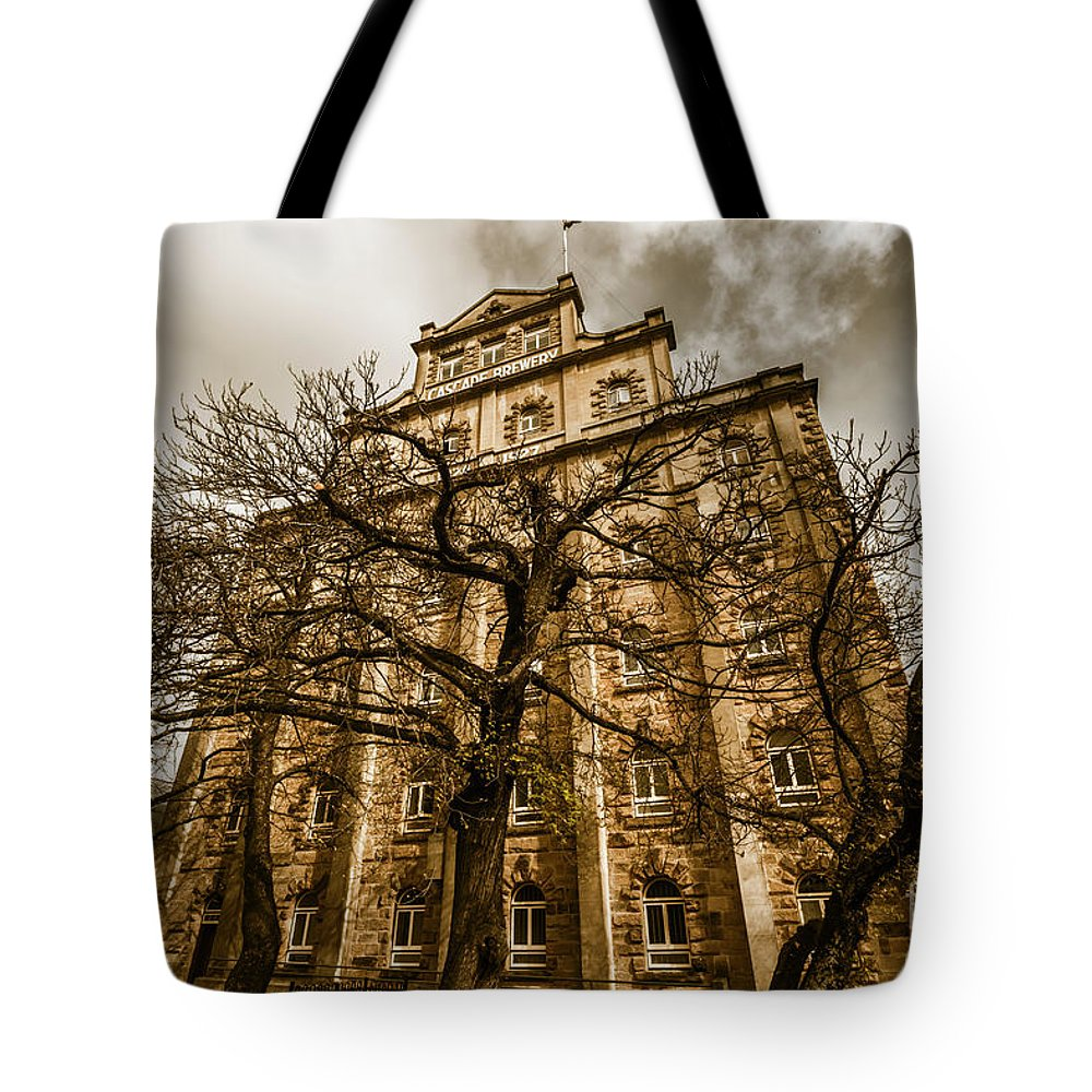 Cascade Brewery Tote Bag featuring the photograph Historical Tasmanian Tourism by Jorgo Photography - Wall Art Gallery