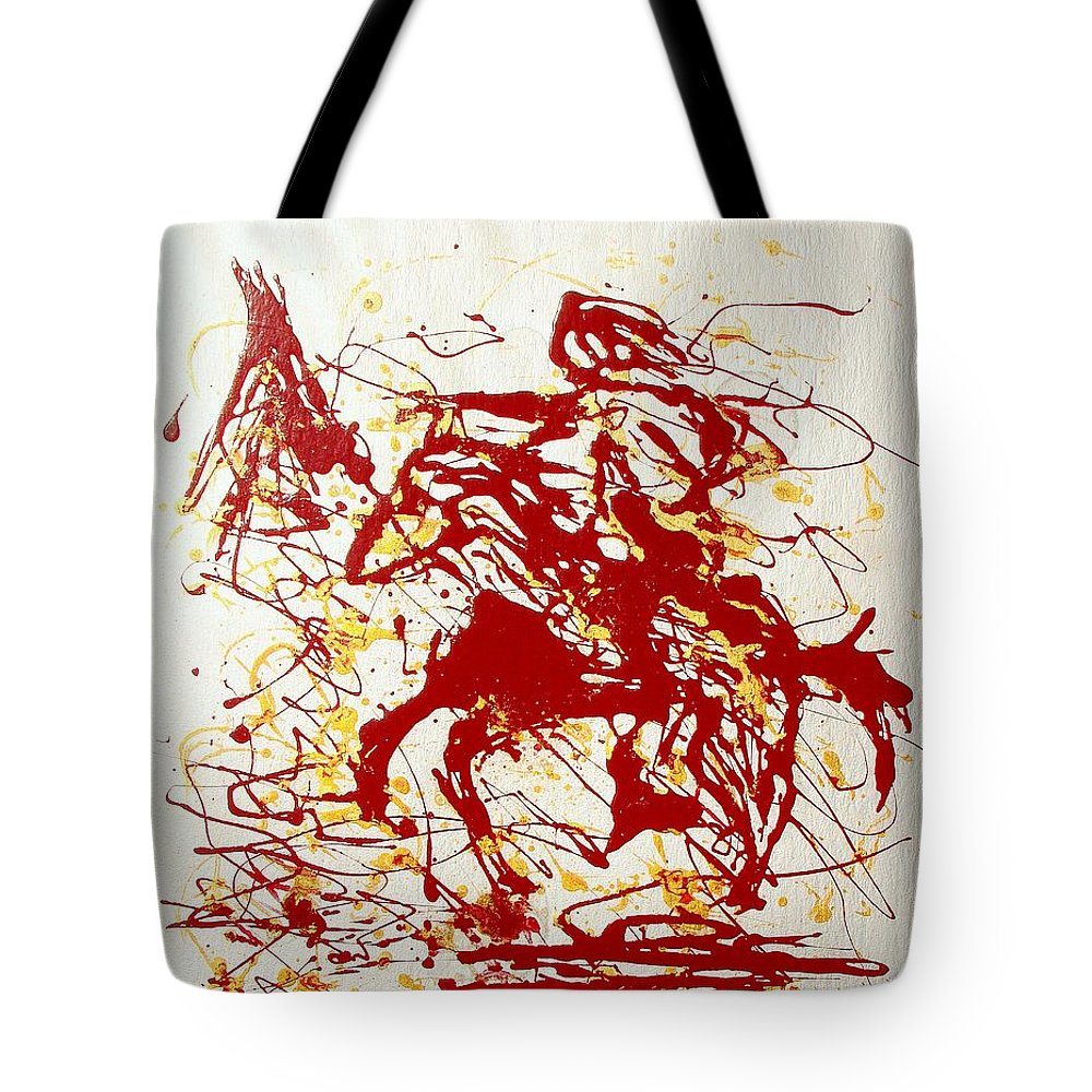 Indian Tote Bag featuring the painting History In Blood by J R Seymour