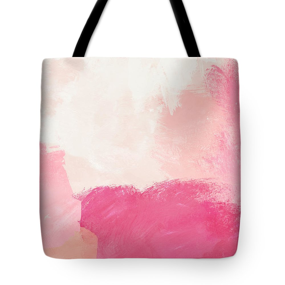 Abstract Tote Bag featuring the mixed media History of Pink- Abstract Art by Linda Woods by Linda Woods