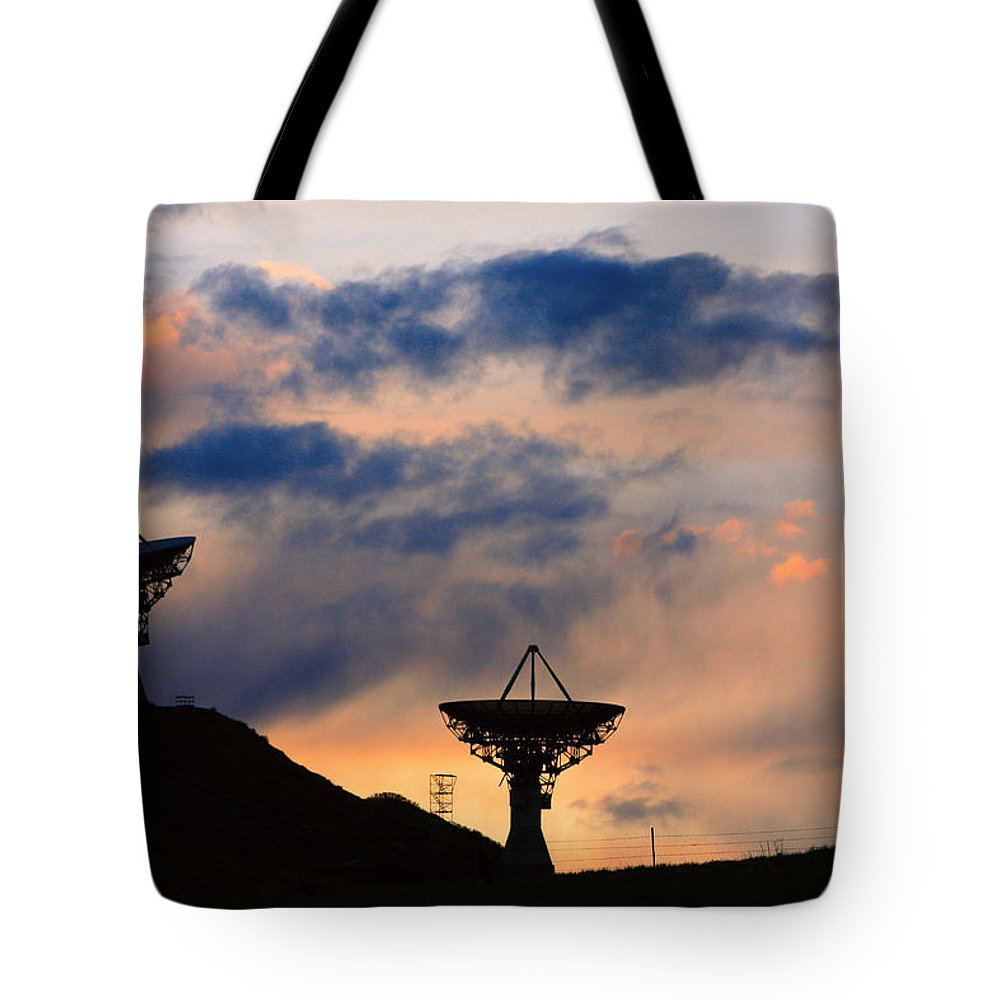 Sunset Tote Bag featuring the photograph Hitech Sunset by James BO Insogna