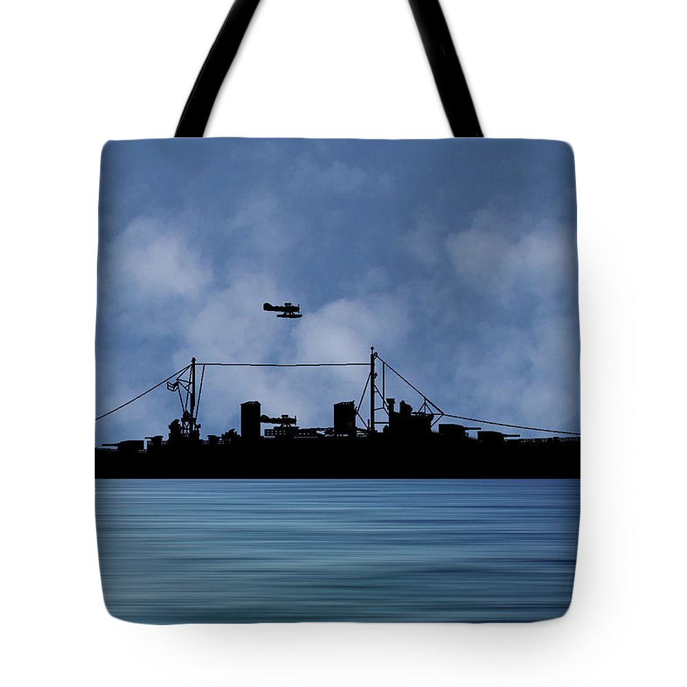 Hms Aboukir Tote Bag featuring the photograph Hms Aboukir 1936 V1 by Smart Aviation