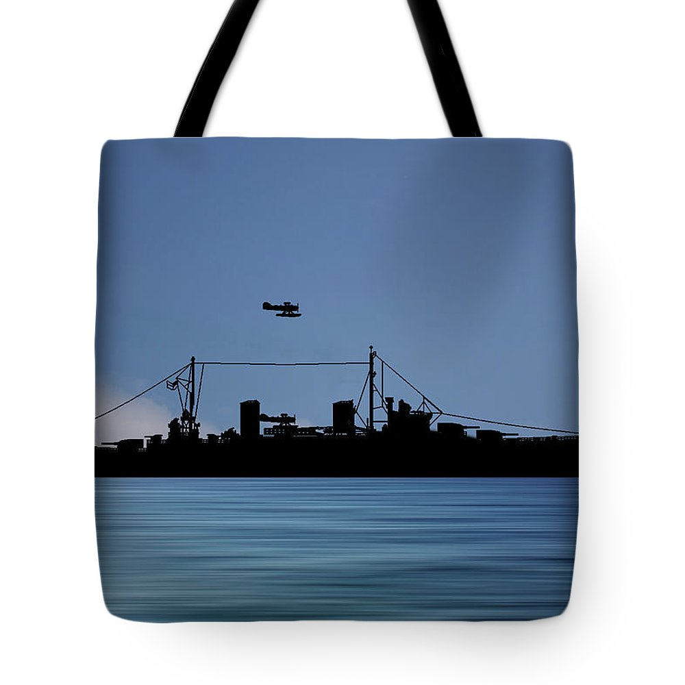 Hms Aboukir Tote Bag featuring the photograph Hms Aboukir 1936 V4 by Smart Aviation