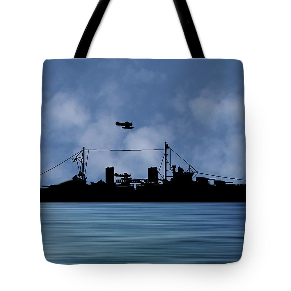 Hms Aboukir Tote Bag featuring the photograph Hms Arboukir 1937 V1 by Smart Aviation
