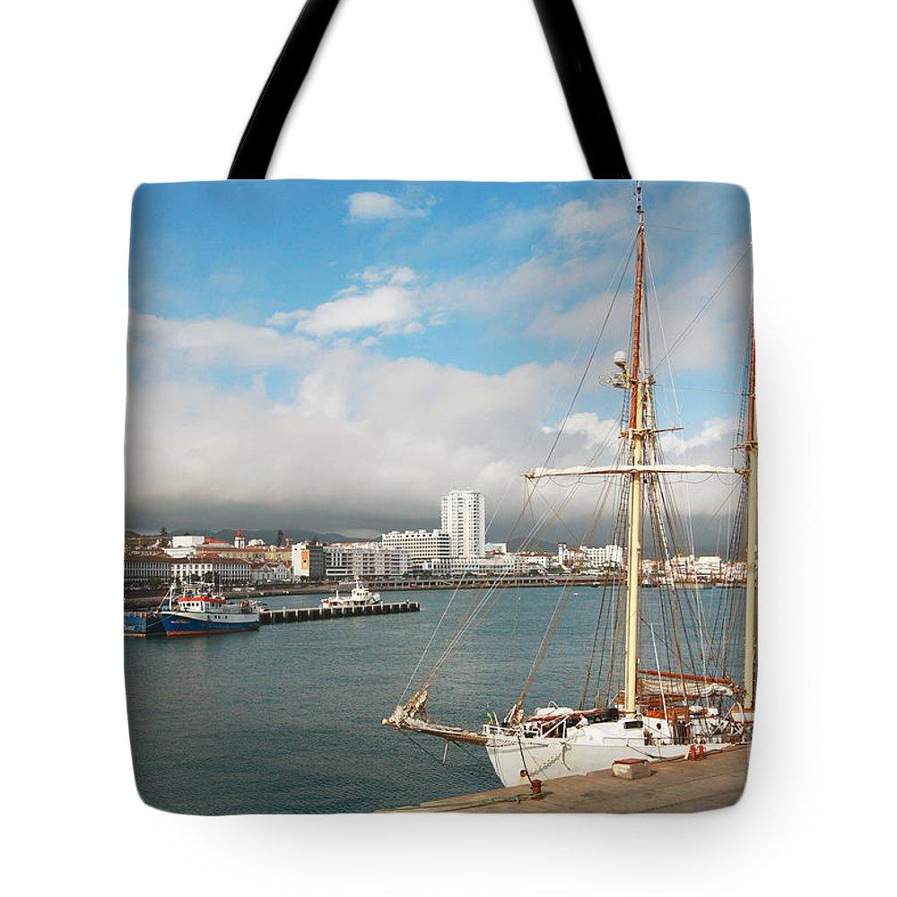 Hms Falken Tote Bag featuring the photograph Hms Falken by Gaspar Avila