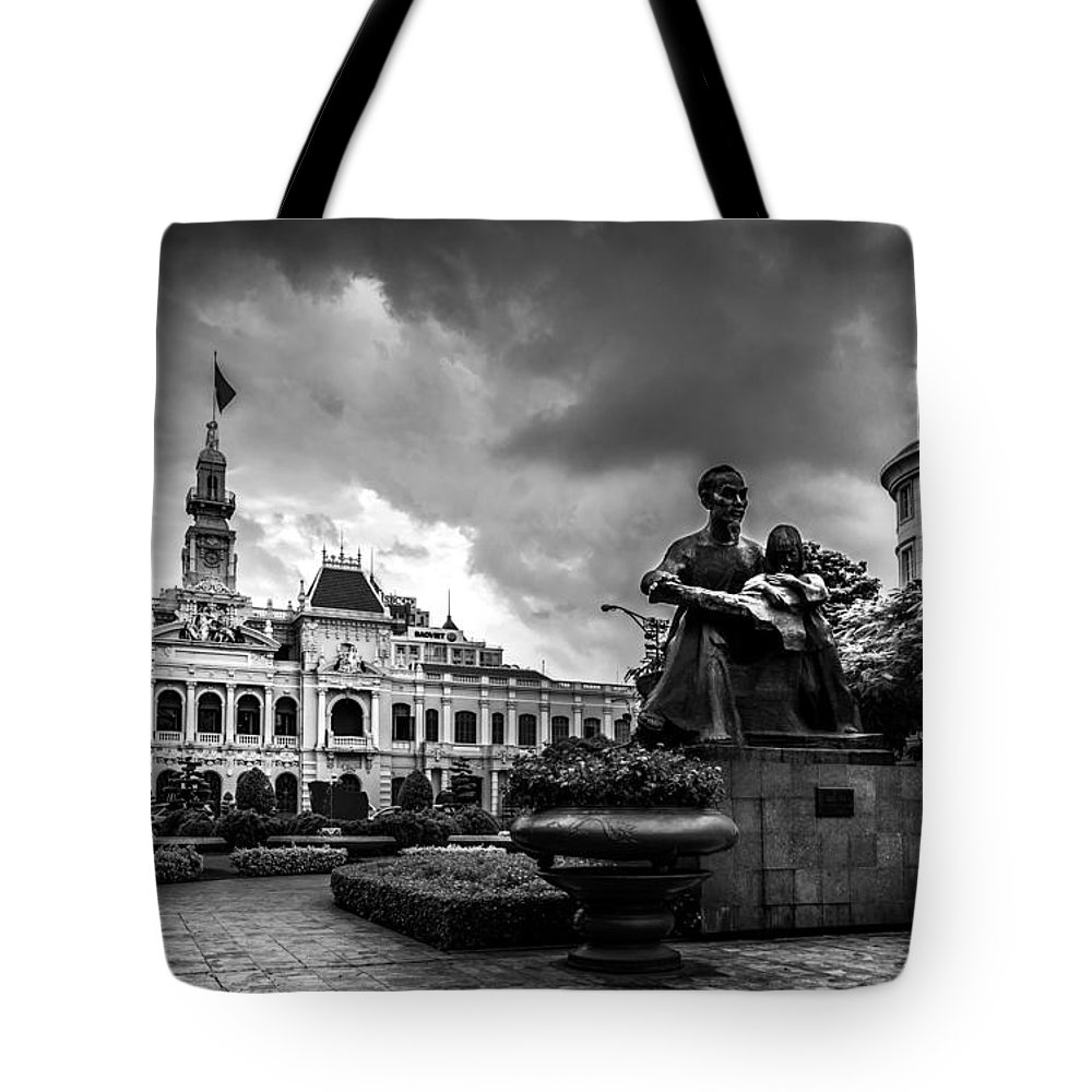 Ho Chi Minh Tote Bag featuring the photograph Ho Chi Minh City Hall by Andrew Matwijec
