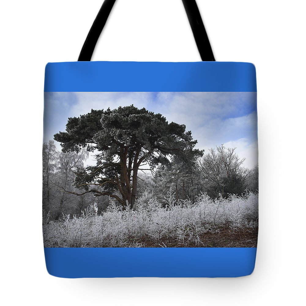 Hoar Tote Bag featuring the photograph Hoar Frost by Hazy Apple