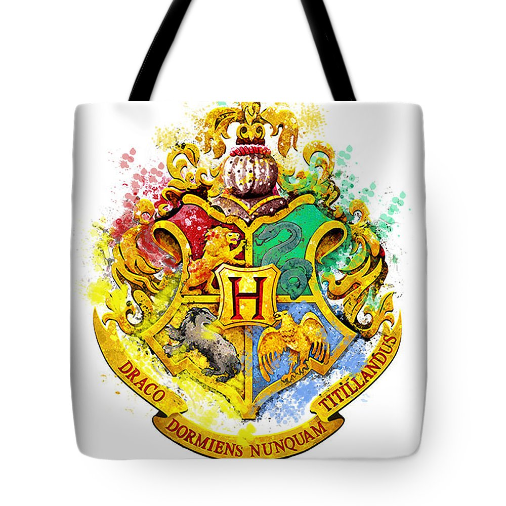 HARRY POTTER CANVAS STYLE SHOPPING BAG//TOTE//CLOTH BAG..HOUSE CRESTS..HOGWARTS..