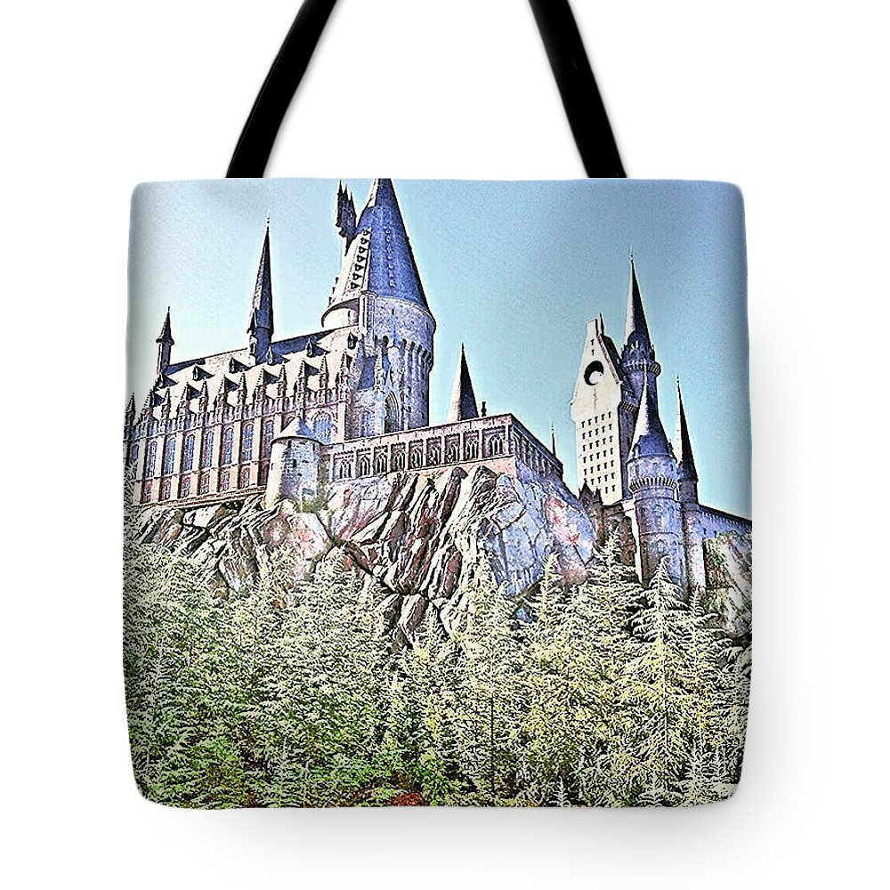 Cityscape Tote Bag featuring the photograph Hogwarts - Islands Of Adventure, Florida by Thomas Krappweis