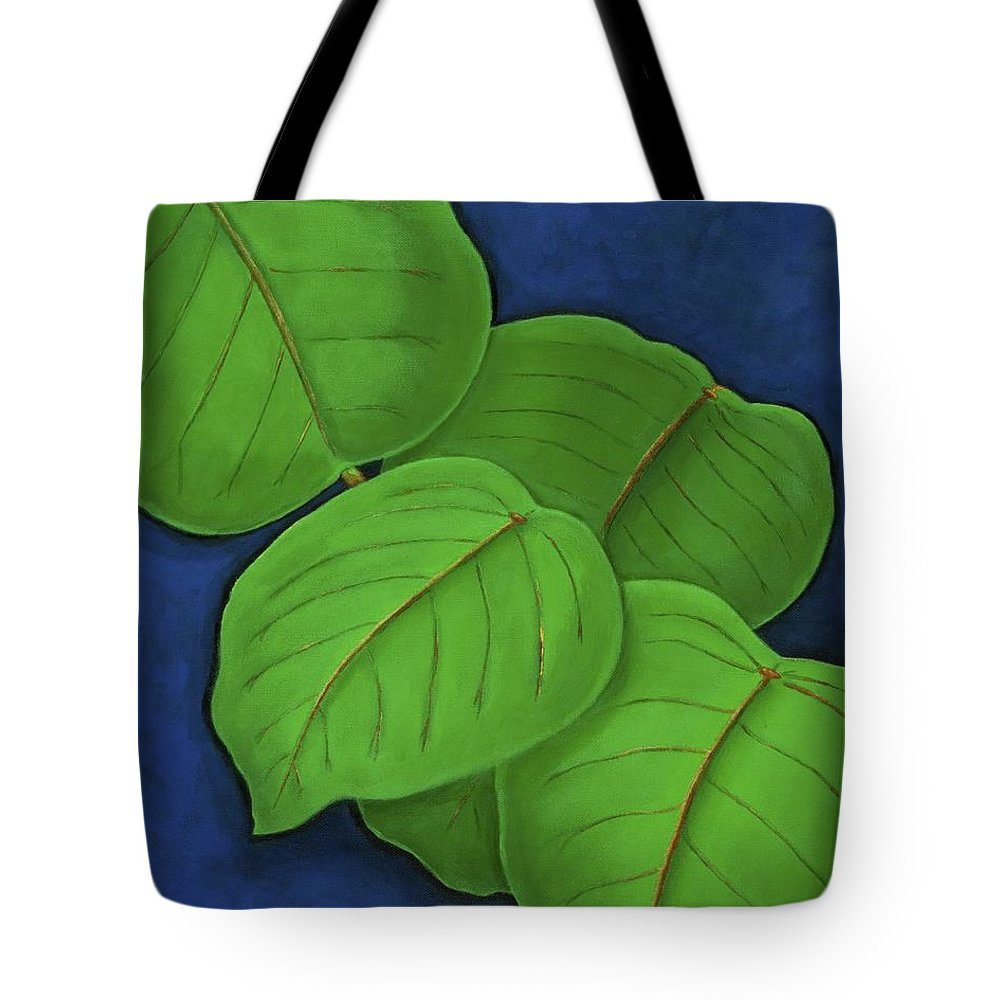 Leaves Tote Bag featuring the painting Hojas by Maureen Schmidt