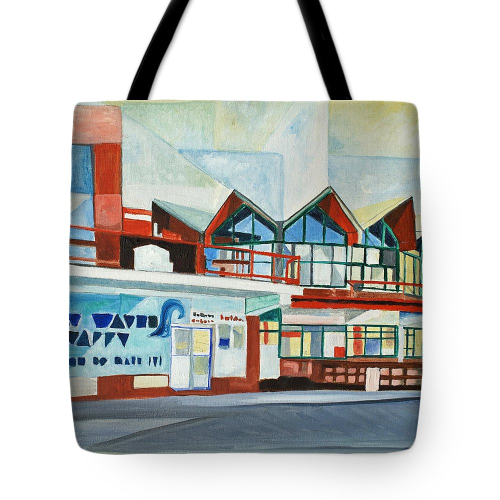 Asbury Art Tote Bag featuring the painting Hojo's Abstracted by Patricia Arroyo